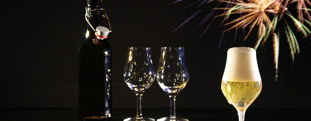 Bilde: Mange øl kan være et godt alternativ til Champagne.