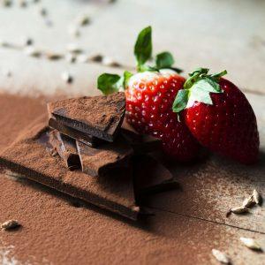 Sjokolade og jordbær