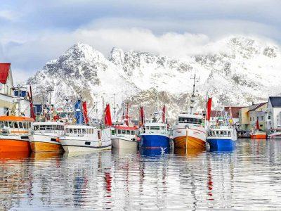 Fiskebåter i Henningsvær
